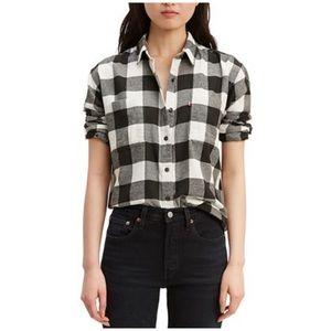 Levi's Flannel Plaid Shirt Size Medium